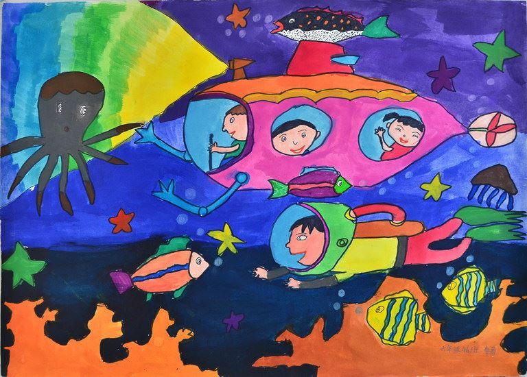 南涧县示范小学2014年六一画展图片